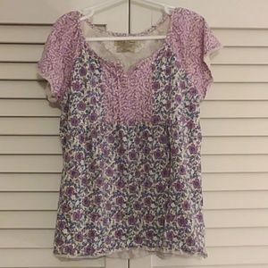 Lucky Brand Girls Short Sleeve Purple shirt